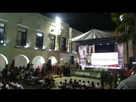 Primer informe de gobierno de Valladolid Yucatán México. ING Enrique