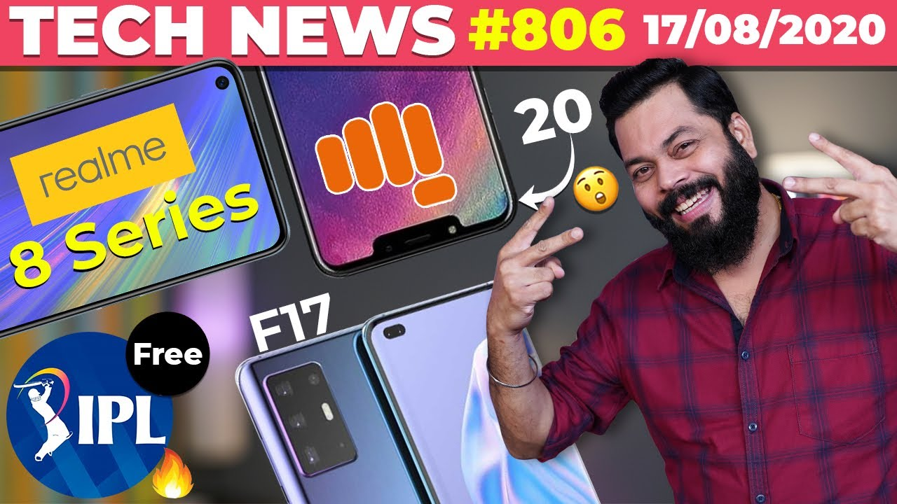 Realme 8 Series Details, 20 New Micromax Phones, Free IPL Streaming on Jio,OPPO F17, SD 732G-TTN#806