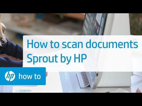 Scanning Documents on Sprout by HP   HP Sprout   HP
