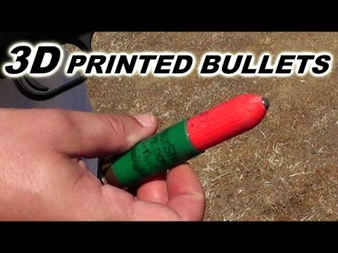 'Terrifying' 3D PRINTED BULLETS - Spoiler:  they aren't terrifying!