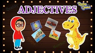 Adjectives   The Describing Words | English Grammar For Kids With Elvis | Roving Genius
