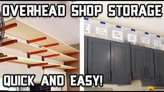 DIY Overhead Garage Shop Storage // Quick Shop Organization