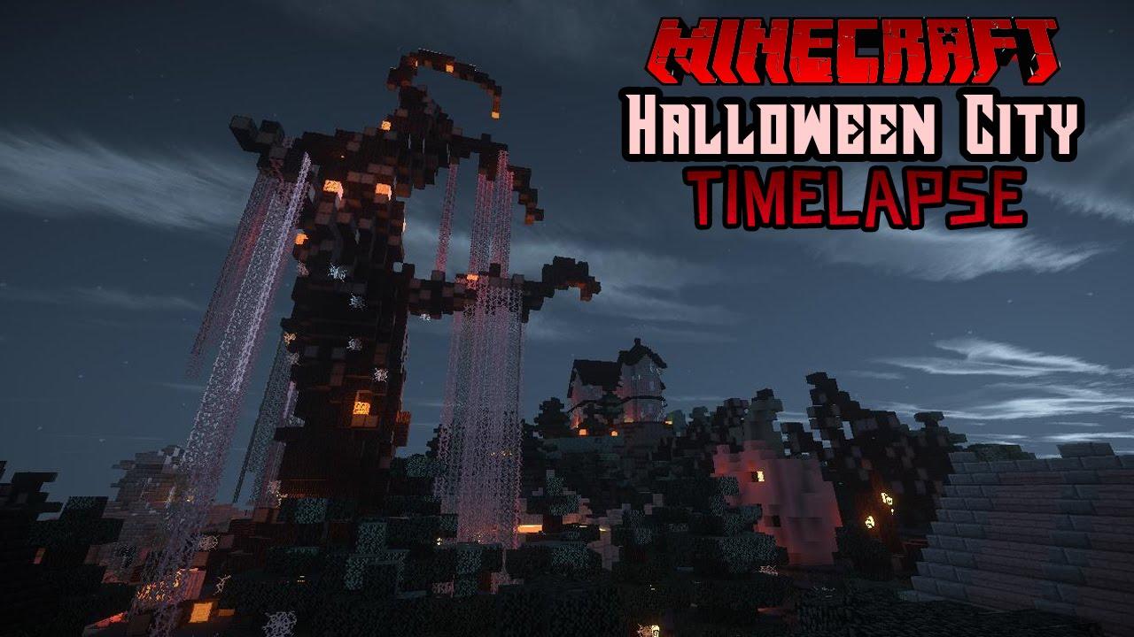 HUGE Halloween City Timelapse! - YouTube