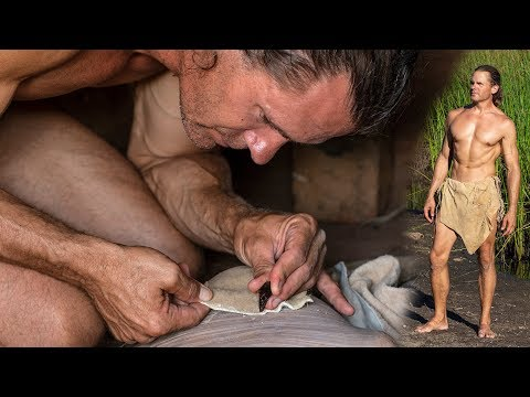Making Primitive Loincloth With Pocket And Belt
