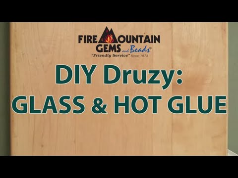 DIY Druzy: Glass and Hot Glue