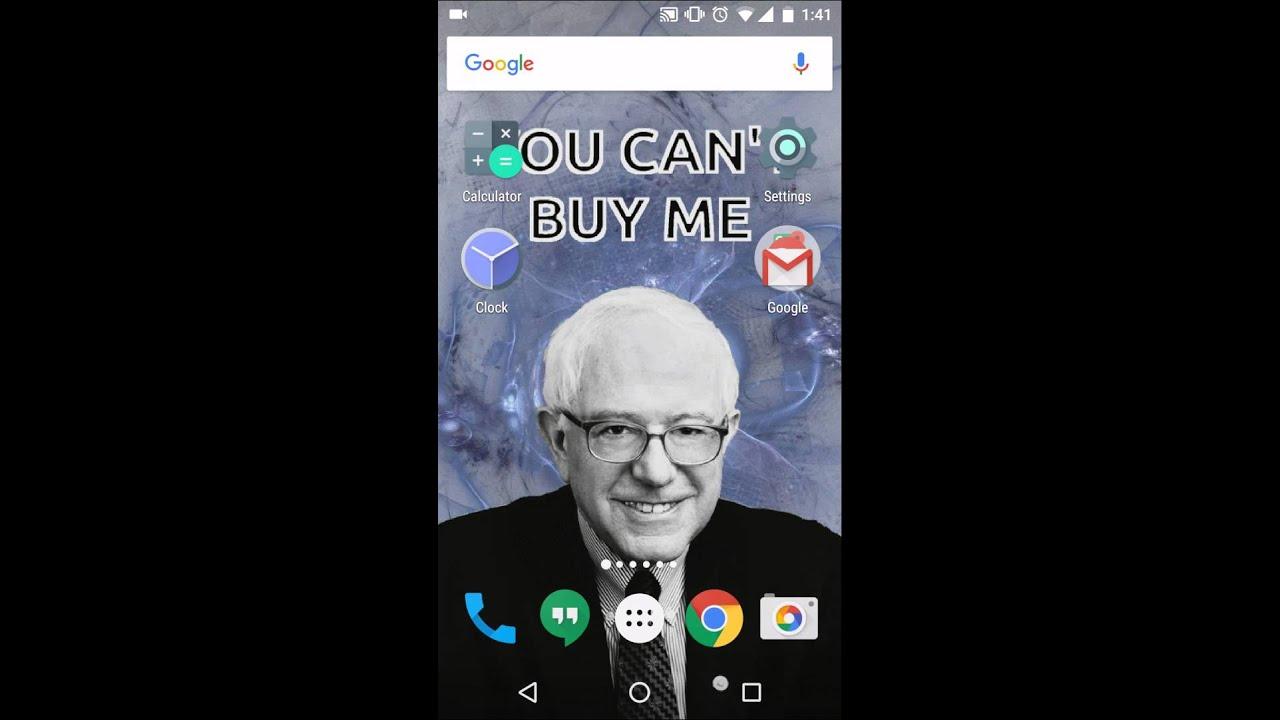 Bernie Sanders Live Wallpaper Promo