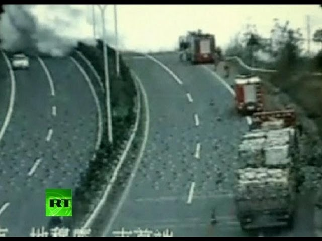 CCTV: Smoke tsunami as gas tanker explodes in China