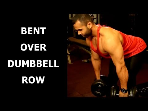 BENT OVER DUMBBELL ROW TO SCULPT YOUR UPPER BACK