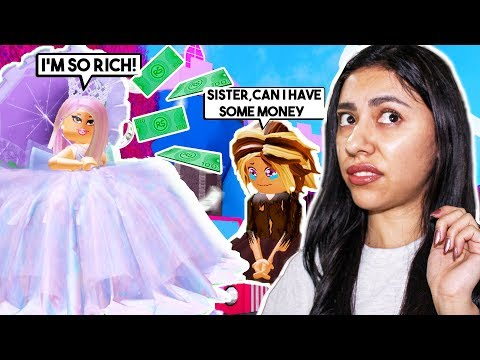 MY TWIN SISTER IS A SPOILED RICH GIRL! - Roblox Roleplay - Royale High