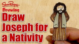 How to draw Joseph for a nativity scene
