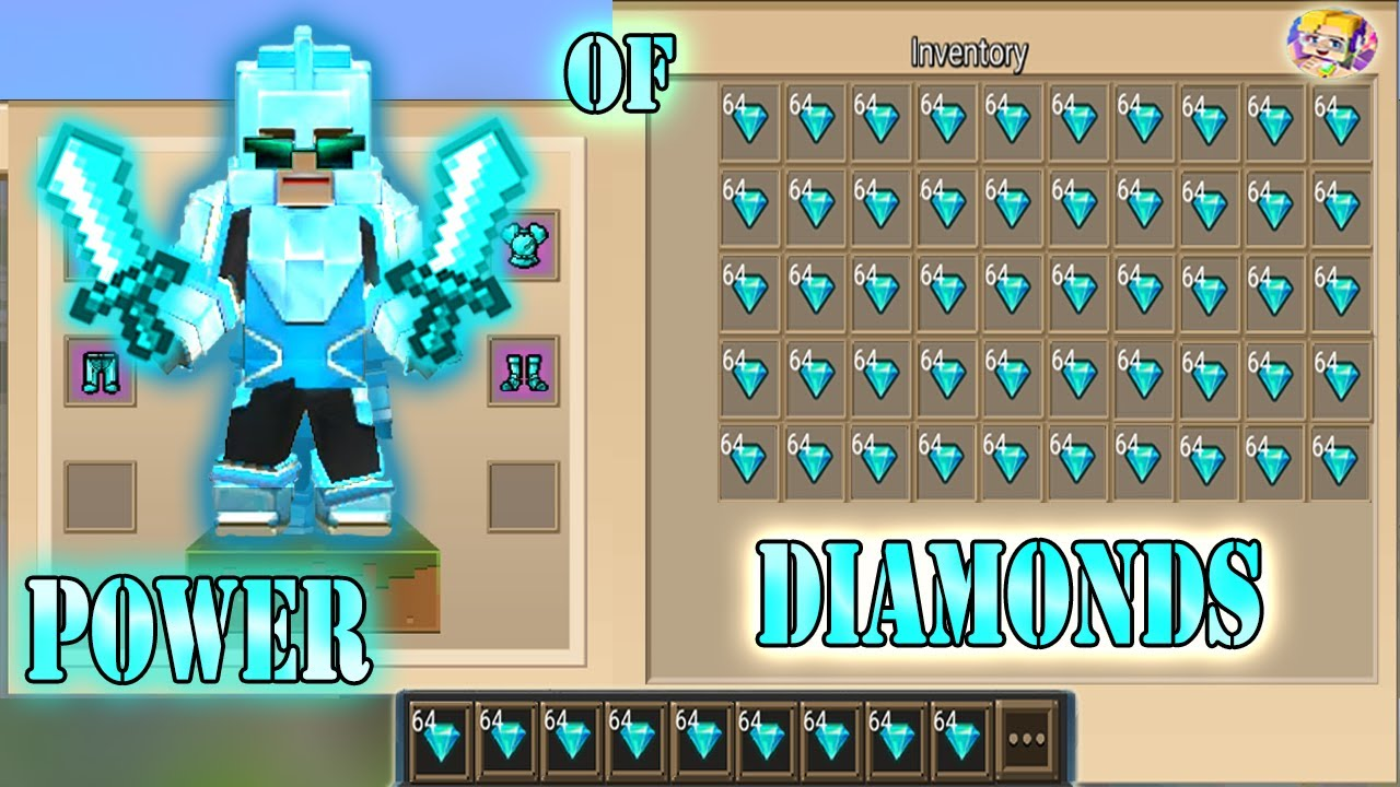 Download POWER OF 999+ DIAMONDS In Bed Wars | Blockman Go Gameplay (Android , iOS)