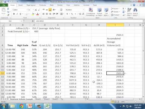 CE 331 - Class 23 (3/8/2013) - Reservoir Sizing, Specific Energy