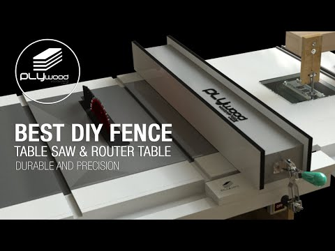 Homemade Table Saw Fence System - Easy Simple New Style fence table saw