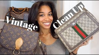 STICKY POCKETS? MUSTY ODOR? | How to Clean Vintage LV and Gucci | KWSHOPS