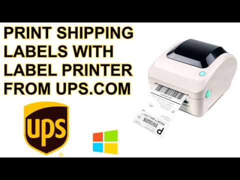How to print UPS Shipping Label (4x6