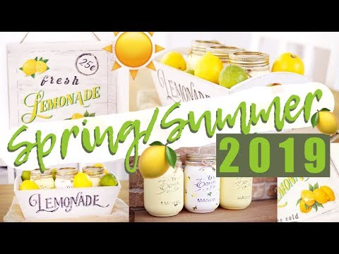 POUNDLAND DIY DECOR FARMHOUSE *LEMON* SPRING SUMMER