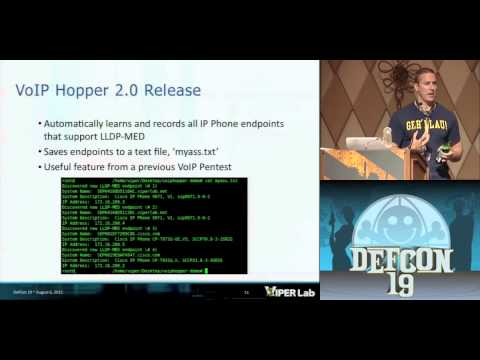 DEF CON 19 Hacking Conference Presentation By   Jason Ostrom   VoIP Hopping the Hotel Attacking the