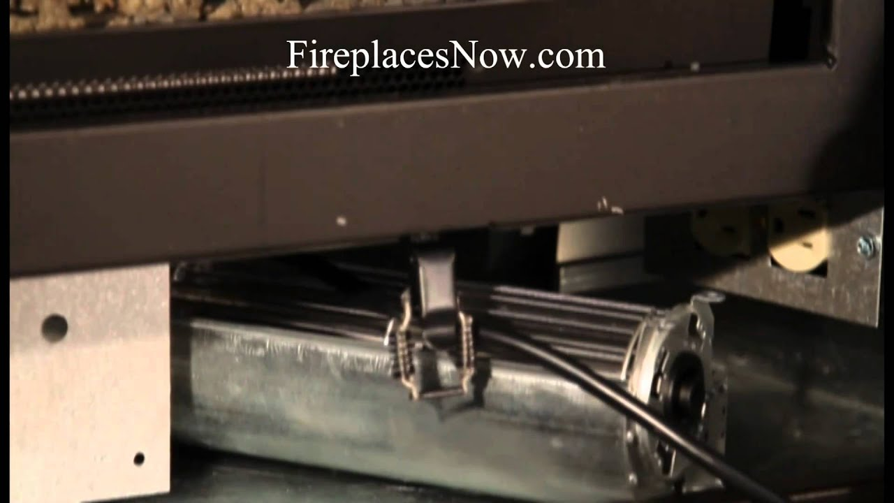 How To Install A Fireplace Blower - YouTube