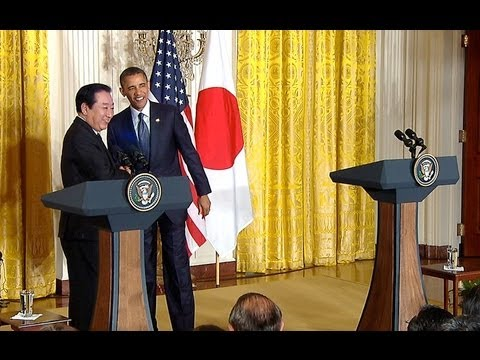 President Obama holds a Press Conference with Prime Minister Noda of Japan