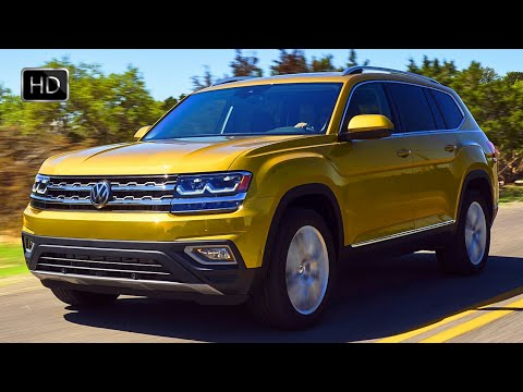2018 Volkswagen Atlas SEL 4MOTION SUV Design Overview & Driving Footage HD