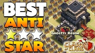 """TH9 (TOWN HALL 9) """"BEST"""" ANTI 3 STAR WAR BASE! / CoC BASE DEFENSE 2016! 