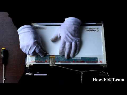 Lenovo IdeaPad V580 Screen Replacement, замена матрицы ноутбука
