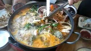 Best Seafood Meal in Jeju Island South Korea Oct. 2009