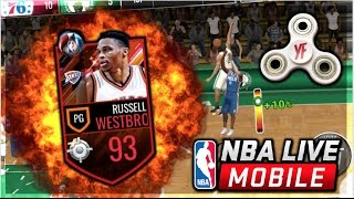 nba live mobile   93 triple double king russell westbrook gameplay how to buy a yf fidget spinner