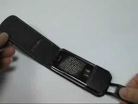 PDair Leather Case for Nokia 8800 Sapphire Arte - Flip Black