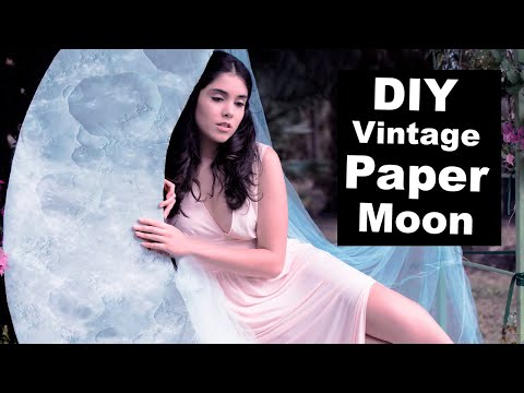DIY Vintage Paper Moon Photography Prop | How To