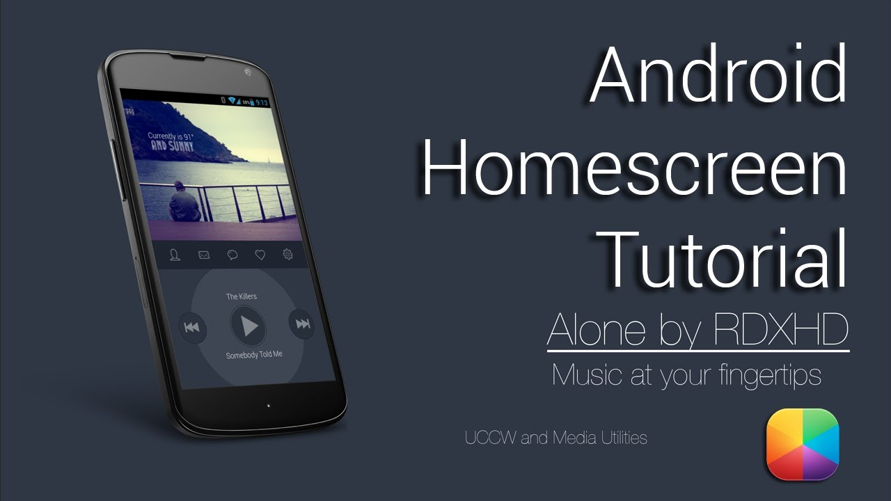 alone (by rdxhd) - android homescreen tutorial - youtube