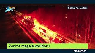 Fenerbahçe'yi eleyen Zenit'e meşale koridoru!