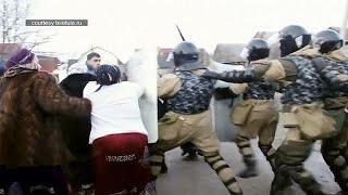 درگیری پلیس روسیه با کولیها بخاطر استفاده غیرقانونی از گاز شهری