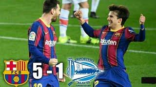 Fc바르셀로나 vs 알라베스 경기 5-1 하이라이트 ●…