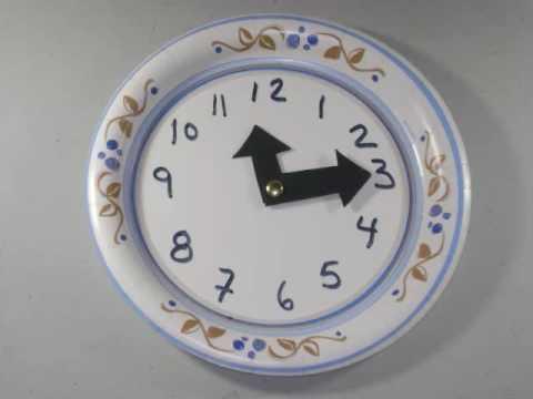 C mo hacer un reloj con un plato desechable - Como hacer un reloj de pared ...