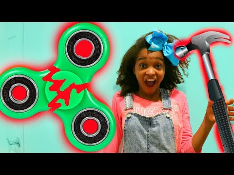 BROKEN FIDGET SPINNER!? - Shiloh and Shasha ft. SuperHeroKids - Onyx Kids