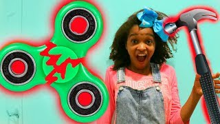 BROKEN FIDGET SPINNER!? - Shiloh and Shasha ft. SuperHeroKids - Onyx Kids