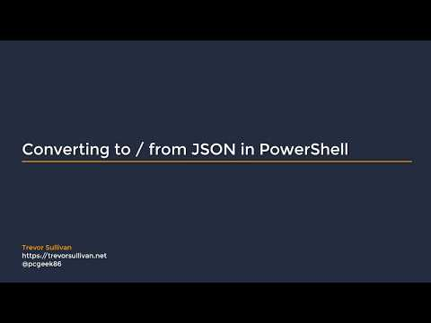 Convert To/From JSON in PowerShell (example with AWS