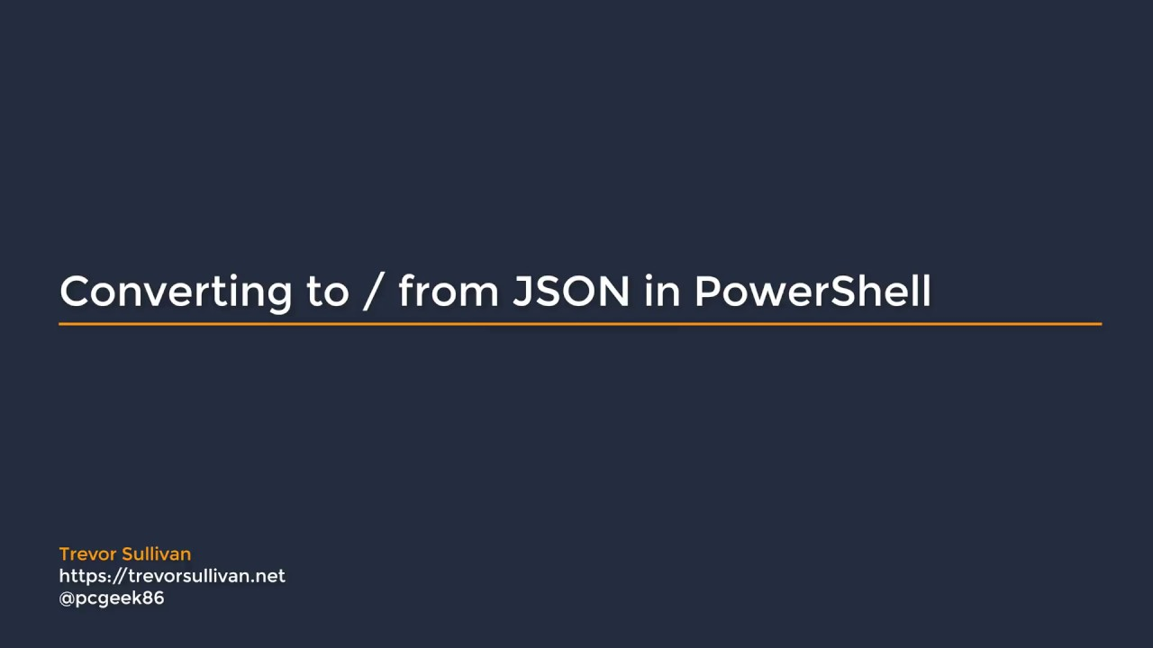 Convert To/From JSON in PowerShell (example with AWS CloudFormation)