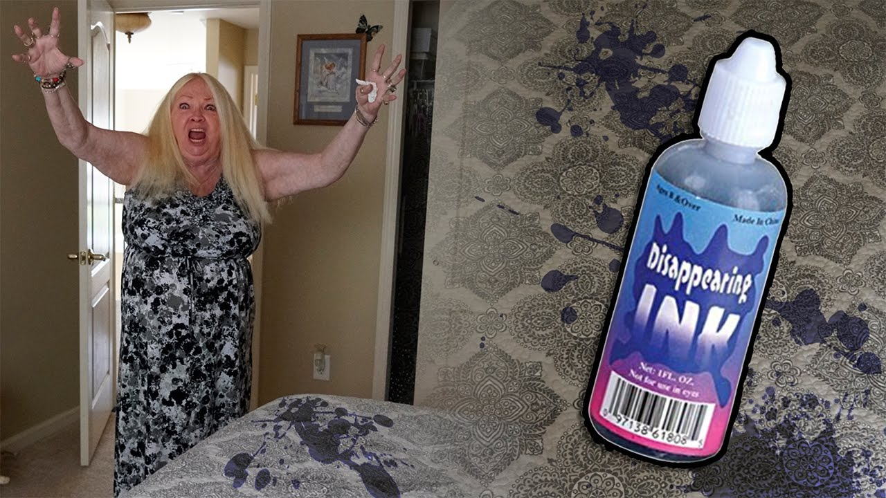disappearing ink on grandmoms bed prank youtube. Black Bedroom Furniture Sets. Home Design Ideas