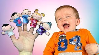 FINGER FAMILY SONG with little BOY Kids play and sing a song with JoyJoy Lika