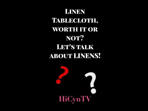 Linen Tablecloth Review: The TRUTH, the whole TRUTH & nothing but the TRUTH!