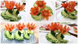 Super Salad Decoration Ideas - Cucumber Carving Garnish