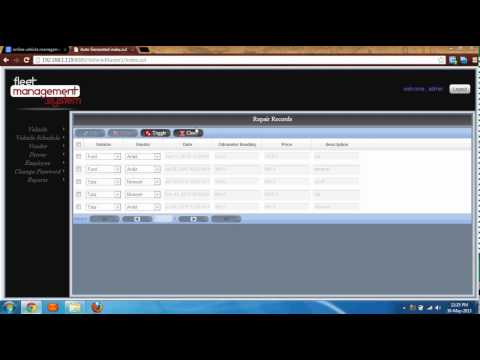 Fleet Management System, Vehicle Management System, Vehicle Tracking