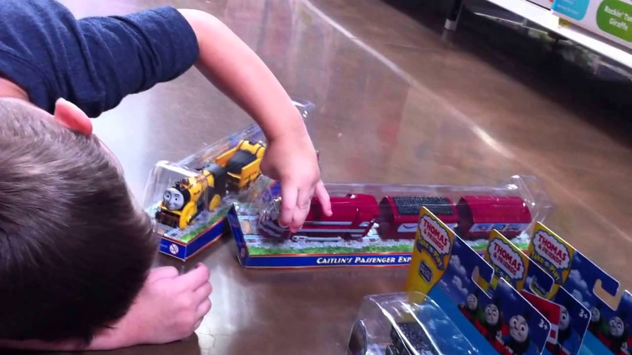 Carson With His Thomas And Friends Selections At Walmart