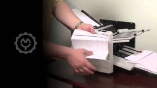 Martin Yale 1217A Automatic Paper Folding Machine Demo Video
