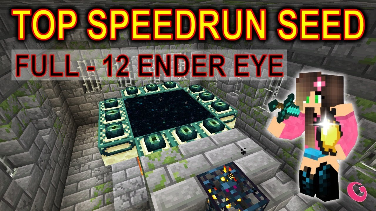 ▶ TOP SPEEDRUN SEED / FULL END PORTAL - 12 ender eye | Gala (CZ/SK)