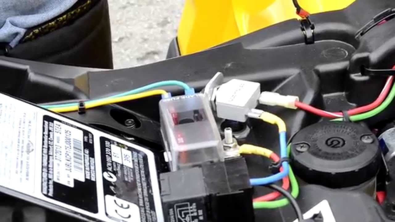 For Atv Winch Wiring Grizzly Can Am Atv How To Add An Accessory Fuse Box Youtube