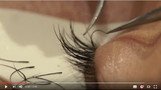Lash extension removal - Banana peel method