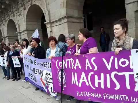 Concentración en Lugo contra la liberación de La Manada